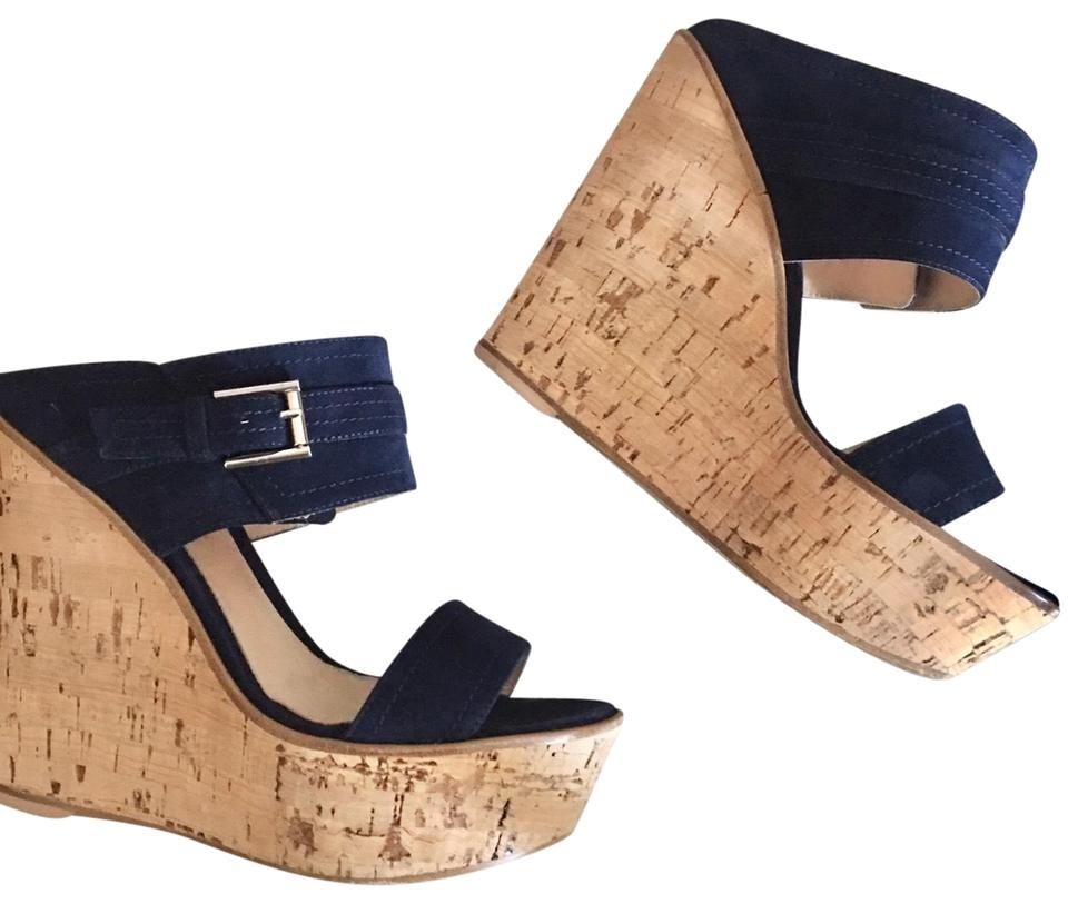 6524bb3cc6ec Gianvito Rossi Navy Blue Wedges Size EU 36.5 (Approx. US 6.5 ...