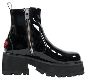 UNIF Patent Leather Black Boots