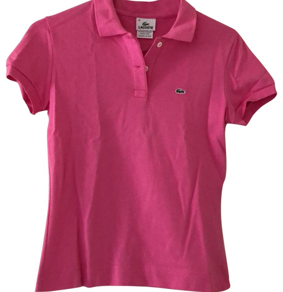 Lacoste Bright Pink Polo Tee Shirt Size 6 S Tradesy