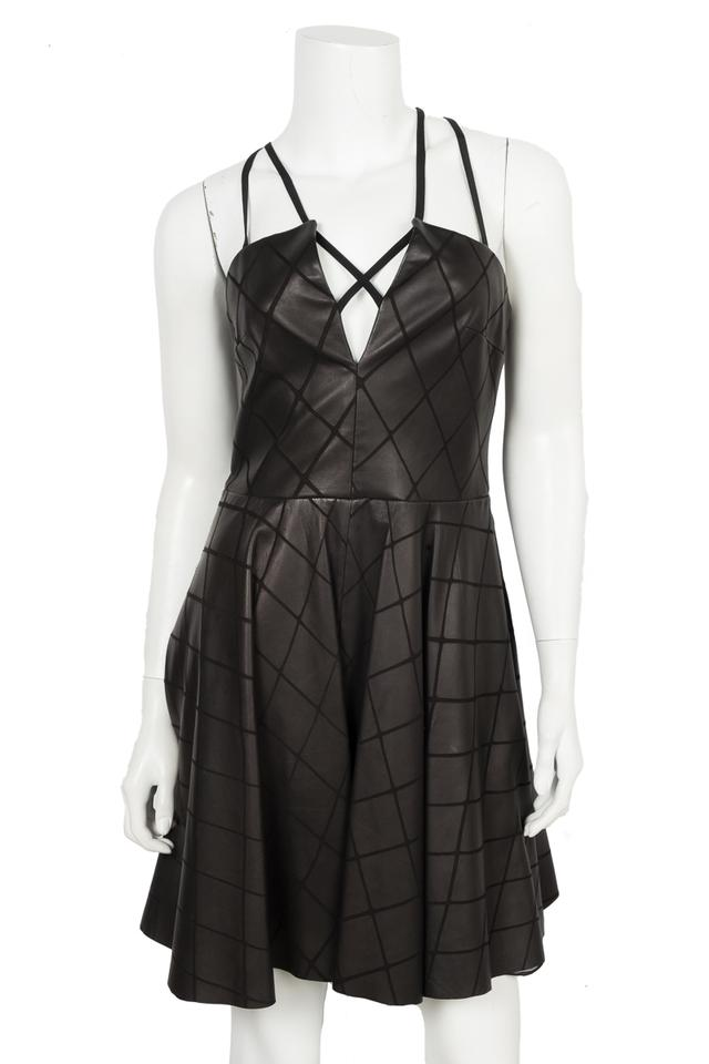 c67fa6aaee71 Cushnie et Ochs Black Leather Small Night Out Dress. Size: 6 (S) Length:  Short ...