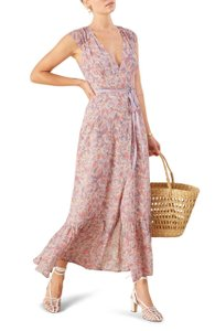 Reformation Wrap Maxi Print Dress