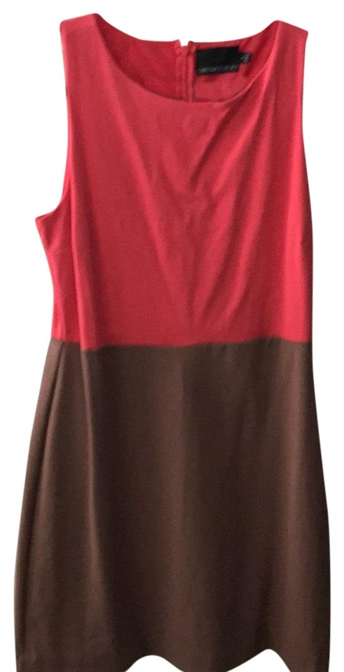 5e9fa2ca6f83dd Cynthia Rowley Taupe and Peach Mid-length Short Casual Dress Size 12 ...