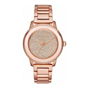 Michael Kors NWT Kinley Rose Gold-Tone Stainless Steel Three Hand Watch Mk6210