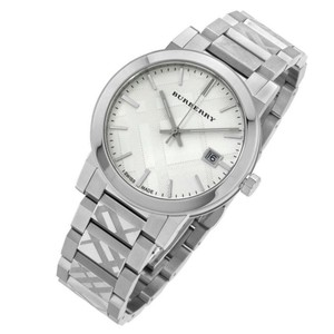 Burberry Burberry Women Silver Check Stamp Stainless Steel Watch BU9037