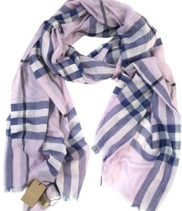 Burberry London Lightweight Giant Check Wool and Silk Gauze Scarf