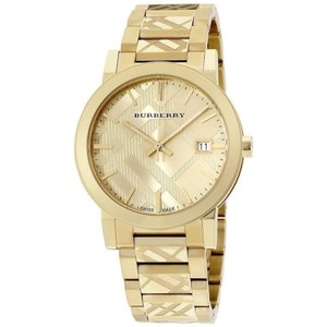Burberry Burberry The City Gold Ion Plated Steel Gold Dial Quartz Unisex Watch