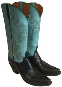 Lucchese Unique black/robin egg Boots