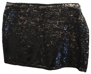Forever 21 Mini Skirt Black with silver sequins
