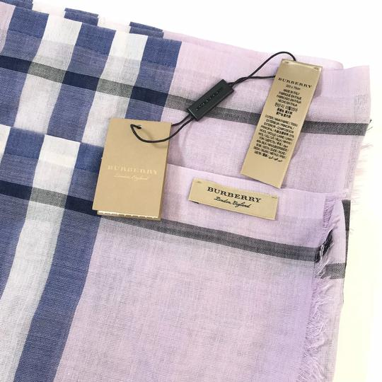 Burberry London Lightweight Giant Check Wool and Silk Scarf