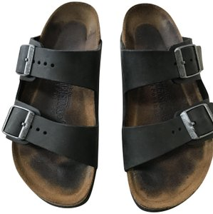 Birkenstock Leather Black Flats