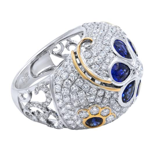 Gavriel's Jewelry Diamond And Sapphire Pave Encrusted Ring