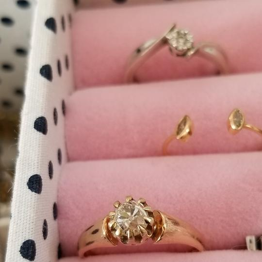 engagement ring Diamond engagement ring old mine cut solitaire in rose gold 14k