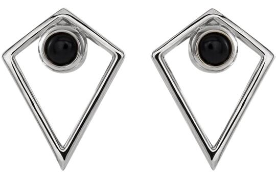 Preload https://img-static.tradesy.com/item/24480476/14k-white-gold-onyx-cabochon-tribal-studs-earrings-0-1-540-540.jpg