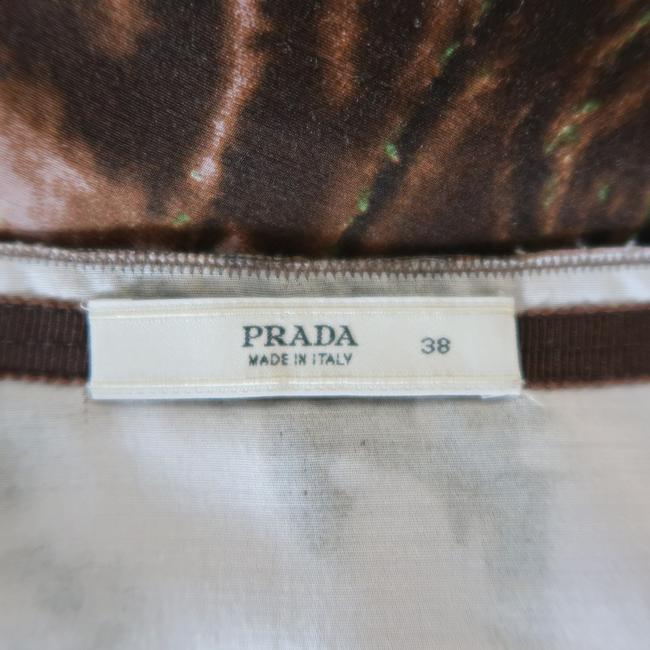 Prada Pleated Wool Silk Skirt Pink