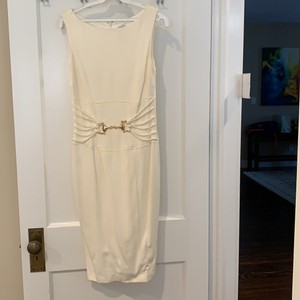 Cache Ivory Cotton and Silk Formal Wedding Dress Size 4 (S)
