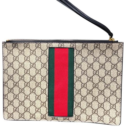 Preload https://item3.tradesy.com/images/gucci-wed-stripe-gg-supreme-multiple-fabric-canvas-back-of-is-leather-clutch-24480512-0-1.jpg?width=440&height=440
