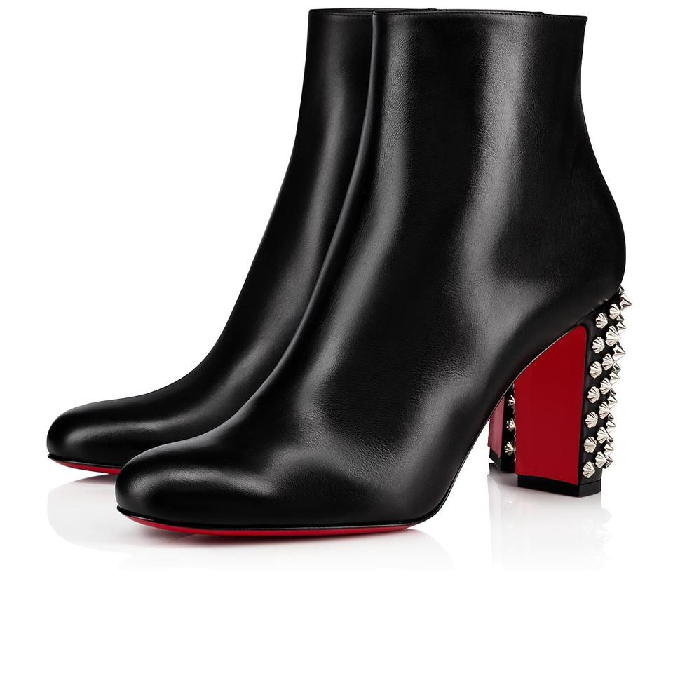1cf2beed225 Christian Louboutin Black New Suzi Folk 85 Studded Leather Boots/Booties  Size US 11 Regular (M, B)