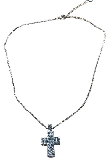 Preload https://img-static.tradesy.com/item/24480538/swarovski-silver-and-clear-crystals-cross-pendent-necklace-0-1-540-540.jpg