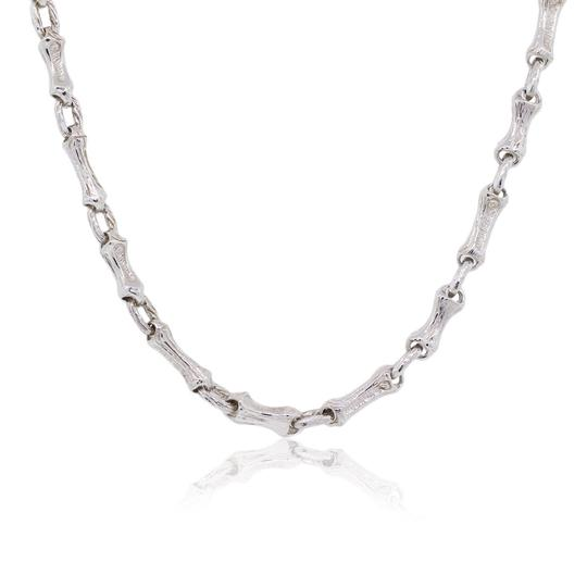 Preload https://img-static.tradesy.com/item/24480559/tiffany-and-co-white-sterling-silver-bamboo-link-vintage-necklace-0-0-540-540.jpg