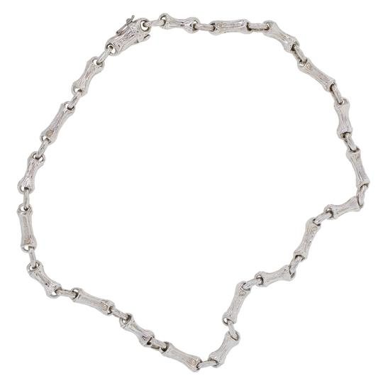 Tiffany & Co. Tiffany & Co. Sterling Silver Bamboo Link Vintage Necklace