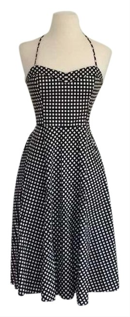 Preload https://img-static.tradesy.com/item/24480602/betsey-johnson-blackwhite-fit-and-flare-check-mid-length-cocktail-dress-size-2-xs-0-1-650-650.jpg