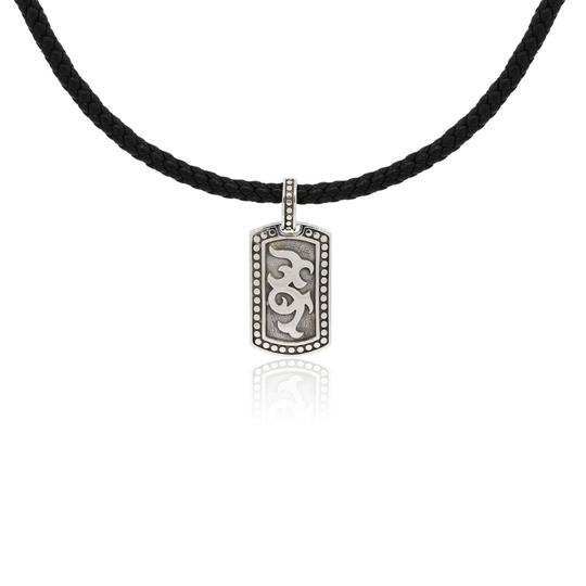 Preload https://img-static.tradesy.com/item/24480606/john-hardy-white-black-dayak-sterling-silver-small-dog-tag-on-leather-necklace-0-0-540-540.jpg