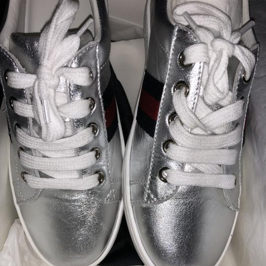 Gucci Sneakers Designer Formal Silver Athletic