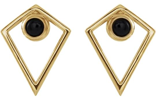 Preload https://img-static.tradesy.com/item/24480650/14k-yellow-gold-onyx-cabochon-tribal-studs-earrings-0-1-540-540.jpg