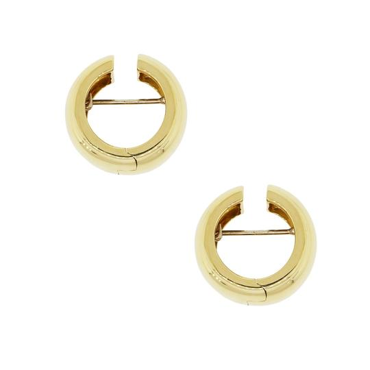 Tiffany & Co. Tiffany & Co. 18k Yellow Gold 9mm Wide Smooth Hoop Huggie Earrings
