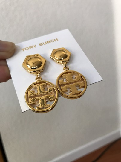 Tory Burch NWT Tory Burch Circle Logo Drop Earrings