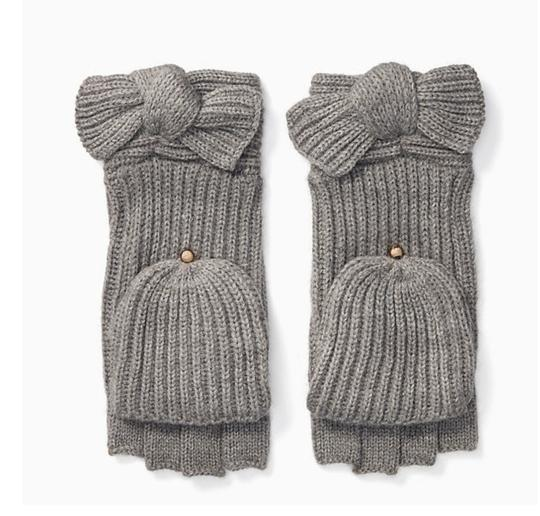 Preload https://img-static.tradesy.com/item/24480711/kate-spade-heather-grey-york-solid-bow-pop-top-gloves-glove-0-0-540-540.jpg