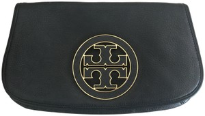 Tory Burch Leather Black Clutch