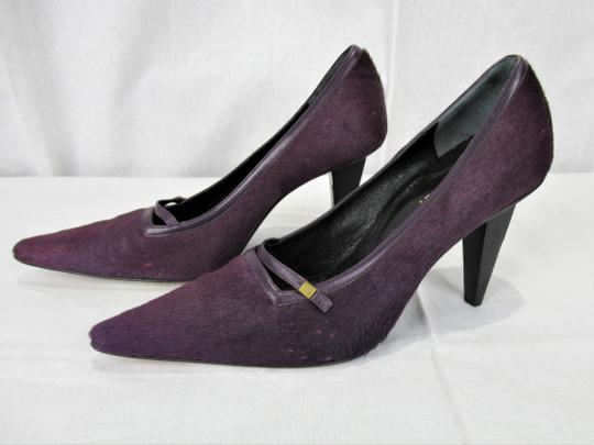 Versace Pony Hair Gianni New With Tags Purple / Viola Pumps