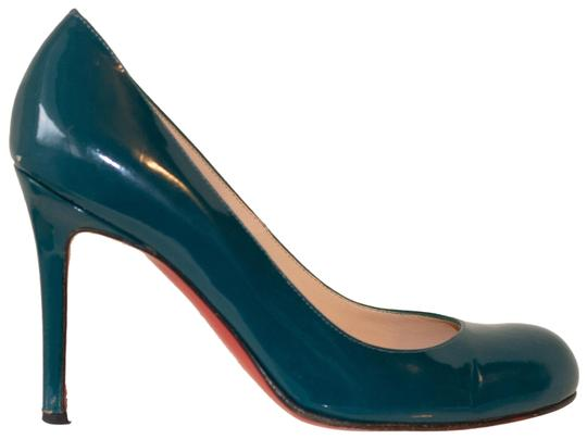 Preload https://img-static.tradesy.com/item/24480762/christian-louboutin-green-simple-100-teal-patent-leather-pumps-wedges-size-eu-365-approx-us-65-regul-0-1-540-540.jpg