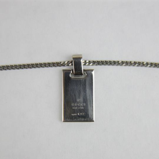Gucci Necklace with Diamante Plaque and Black Detail ARG 925 341899 8131