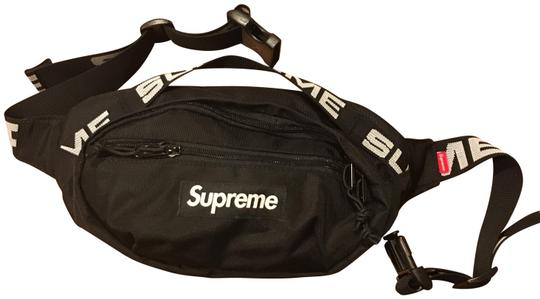 Preload https://img-static.tradesy.com/item/24480799/supreme-excellent-condition-ss18-pre-owned-waist-black-cross-body-bag-0-1-540-540.jpg