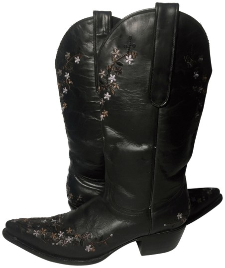Preload https://img-static.tradesy.com/item/24480803/old-gringo-black-embroidered-flowers-cowgirl-women-bootsbooties-size-us-7-regular-m-b-0-1-540-540.jpg