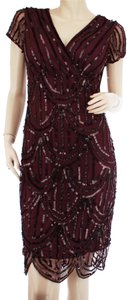 Marina Evening Sequin Scalloped Us 8 Dress