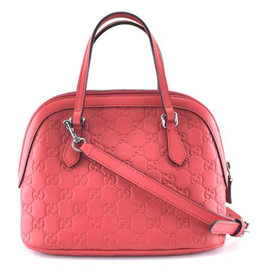 Preload https://img-static.tradesy.com/item/24480844/gucci-dome-24537-rare-mini-two-way-detachable-strap-shoulder-satchel-red-leather-cross-body-bag-0-1-540-540.jpg