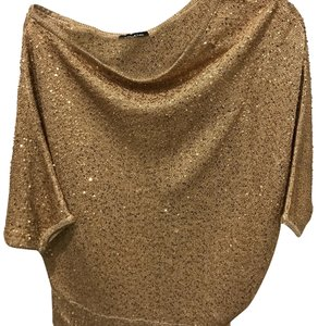 bebe Top gold with sequins