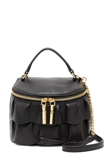 Preload https://img-static.tradesy.com/item/24480873/milly-astor-ruffle-small-top-zip-black-pvc-cross-body-bag-0-0-540-540.jpg