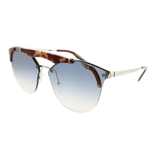 Prada NEW Prada PR 53US Havana Mirrored Silver Oversized Sunglasses $420