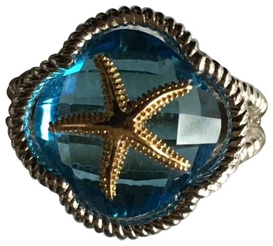 Preload https://img-static.tradesy.com/item/24480902/silver-gold-blue-topaz-sterling-and-14k-starfish-ring-0-1-540-540.jpg