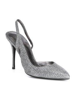 c2a69d48057 MICHAEL Michael Kors Stiletto Glitter Fabric Padded Insole Silver Black  Pumps