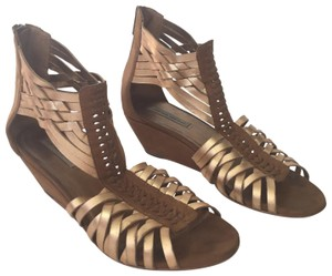Twelfth St. by Cynthia Vincent gold Wedges