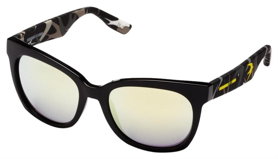 2751978d2b MCQ by Alexander McQueen MCQ MQ0011S 002 Shiny Black Yellow Mirror lens ...