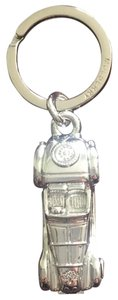 Mulberry Classic silver car key ring