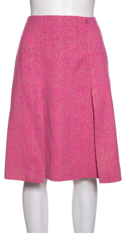 4ce51e2007 Chanel Pink Tweed Skirt Size 4 (S, 27) - Tradesy