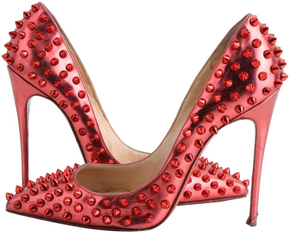 f523ee254d3 Christian Louboutin Metallic Red So Kate 120 Patent Leather Spiked Pum  Pumps Size US 6.5 Narrow (Aa, N) 61% off retail