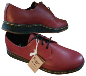 Dr. Martens Classic Tie Exclusive Cherry Red Flats